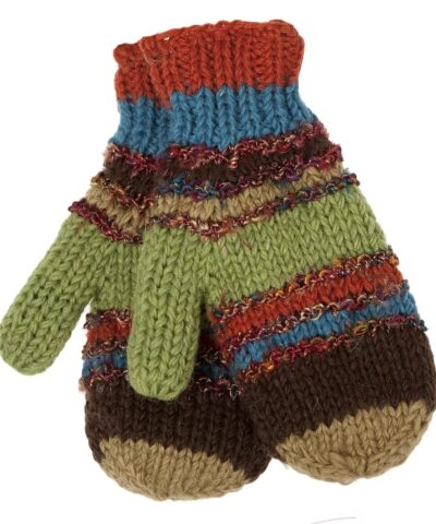 Swool Stripe Mittens
