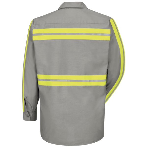 Enhanced Visibility Long Sleeve Industrial Work Shirt