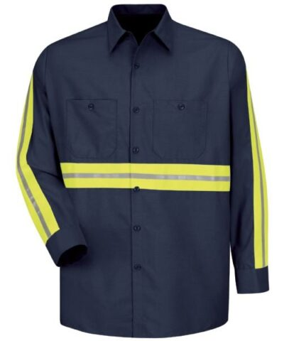 Enhanced Visibility Long Sleeve Industrial Work Shirt