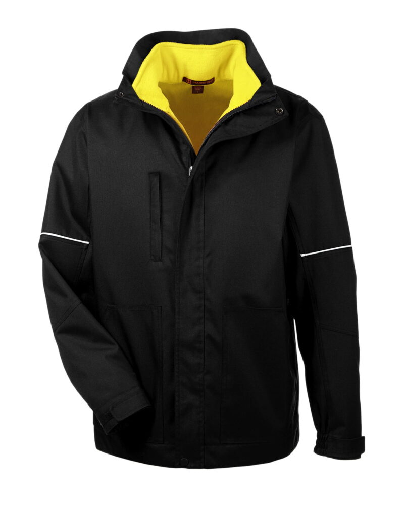 Harriton Adult Contract 3-in-1 Jacket With Daytime Hi-vis Fleece Vest