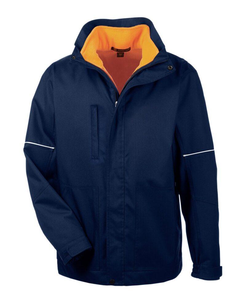 Harriton Adult Contract 3-in-1 Jacket With Daytime Hi-vis Fleece Vest