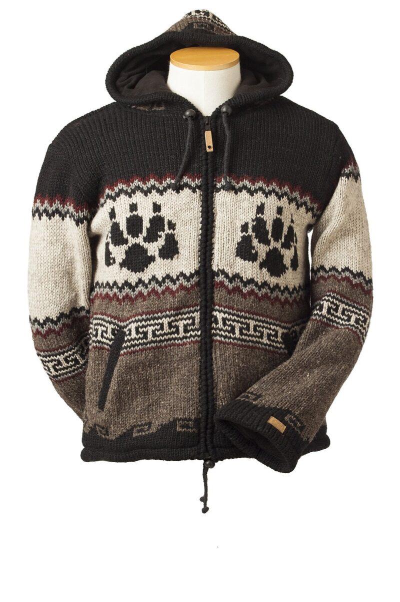 Animal Print Wool Cardigan