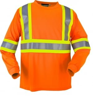 High Visibility Wicking Long Sleeve T-shirt