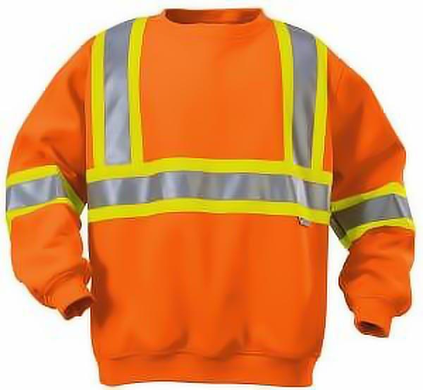 High Visibility Crew Neck Sweatshirt