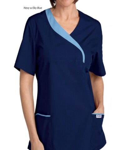 Ladies Sculpted Scrub Top