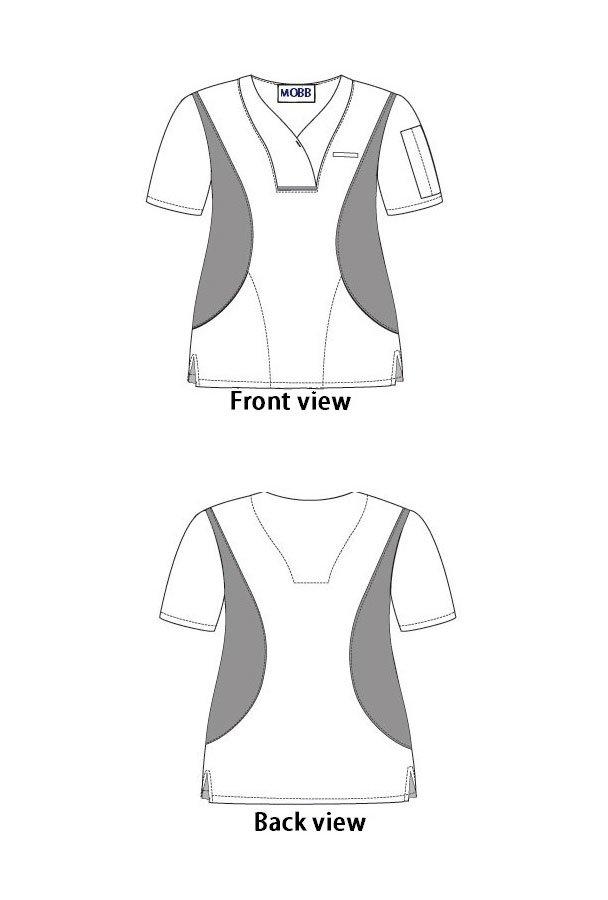 Active Flexi V-neck Scrub Top