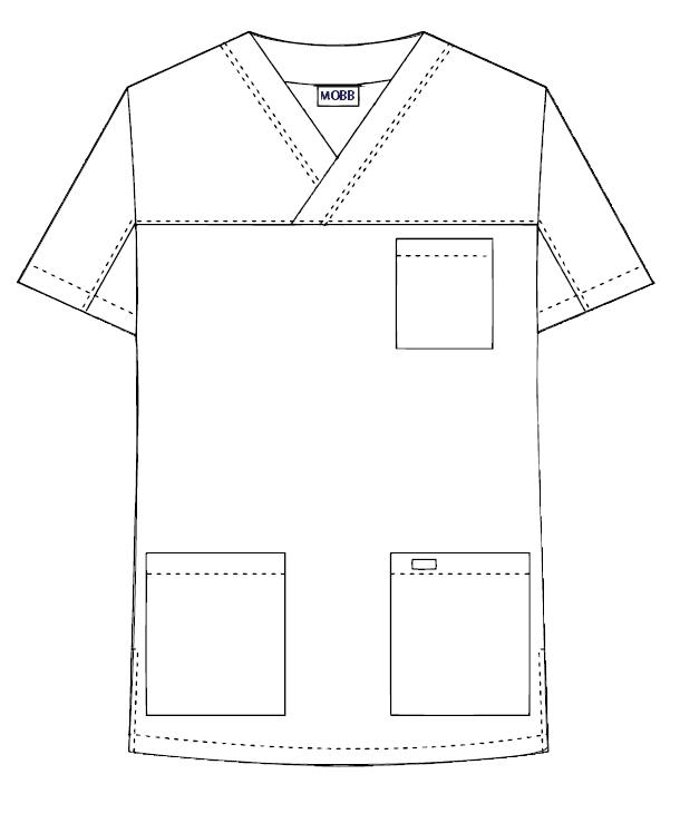 3 Pocket V-neck Scrub Top