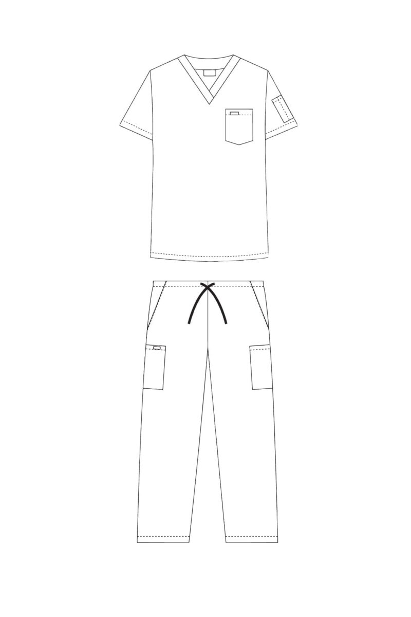 Unisex Drawstring Scrub Set