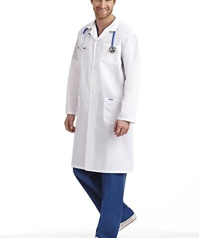 Full Length Unisex Snap Lab Coat