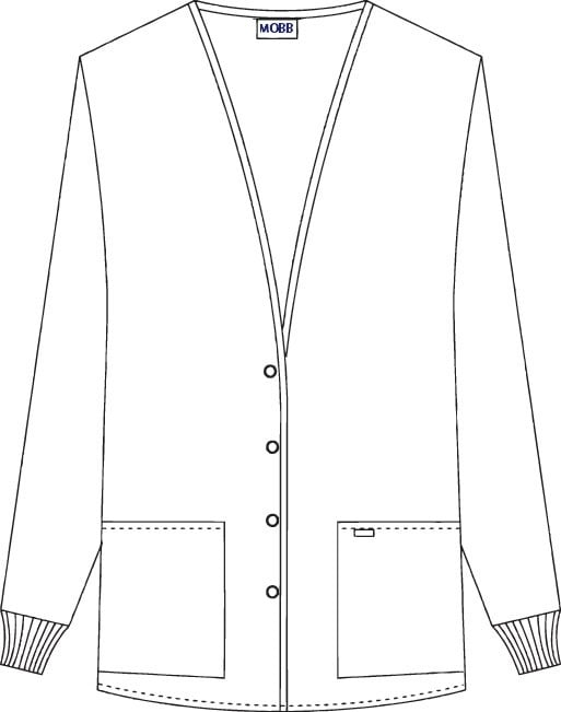 Cardigan Style Warm-up Jacket
