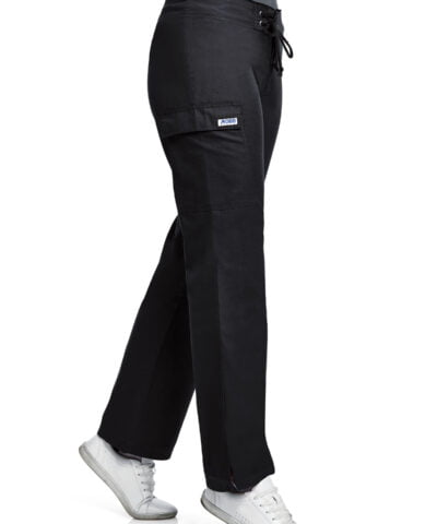 Mobb Low Rise Lace Up Flare Pants